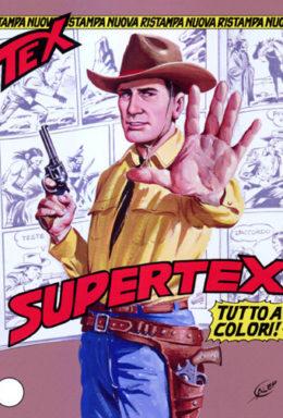 Copertina di Tex Nuova Ristampa n.100 – SuperTex (a colori)