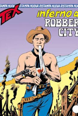 Copertina di Tex Nuova Ristampa n.108 – Inferno a Robber City