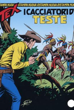Copertina di Tex Nuova Ristampa n.158 – I cacciatori di teste
