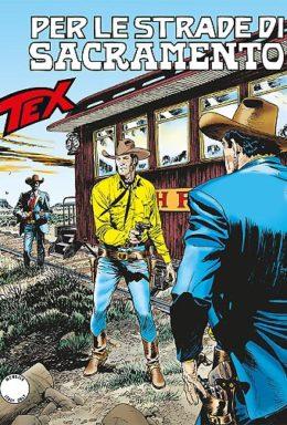 Copertina di Tex n.672 – Per le strade di sacramento