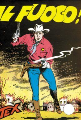 Copertina di Tex n.16 – Il fuoco!