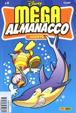 Copertina di Mega Almanacco Disney n.8 – Agosto