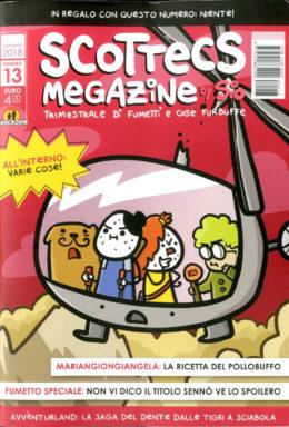 Copertina di Scottecs Megazine n.13 – Trimestrale di fumetti e cose furbuffe
