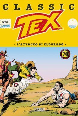 Copertina di Tex Classic n.31 . L'attacco di Eldorado