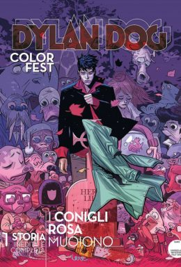Copertina di Dylan Dog Color Fest n.25 – I conigli rosa muoiono