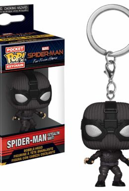 Copertina di Spider-Man (Stealth Suit) – Spider-Man Far From Home – Pocket Pop Keychain