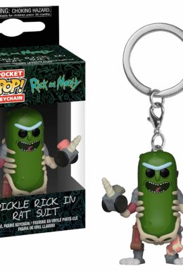 Copertina di Pickle Rick in Rat Suit – Rick and Morty – Pocket Pop Keychain