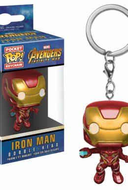 Copertina di Iron Man Bobble-Head – Avengers Infinity War – Pocket Pop Keychain