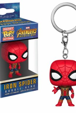Copertina di Iron Spider Bobble-Head – Avengers Infinity War – Pocket Pop Keychain