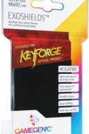 KeyForge Exoshields Tournament Sleeves Nero