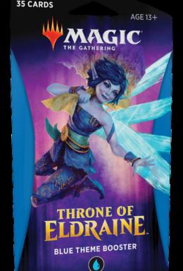 Copertina di Magic The Gathering Throne of Eldraine Theme Booster Blu
