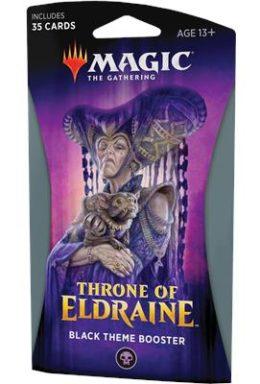 Copertina di Magic The Gathering Throne of Eldraine Theme Booster Nero