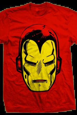 Copertina di Marvel: Iron Man Big Head Rosso (T-Shirt Unisex Tg. S)