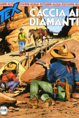 Copertina di Tex Nuova Ristampa n.448 – Caccia ai Diamanti