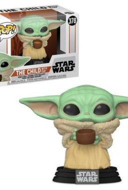 Copertina di Star Wars The Mandalorian Child W/Cup Funko Pop 378