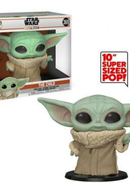 Copertina di Star Wars Mandalorian Child Super Size Funko Pop 369