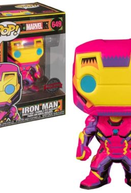 Copertina di Marvel Iron Man Black Light Funko Pop 649