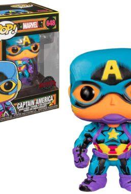 Copertina di Captain America Black Light Funko Pop 648
