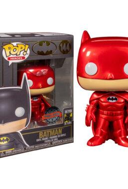 Copertina di Batman Red Metallic Exclusive Funko Pop 144
