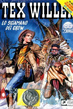 Copertina di Tex Willer n.31 – Lo Sciamano dei Crow + Medaglia Kit Willer