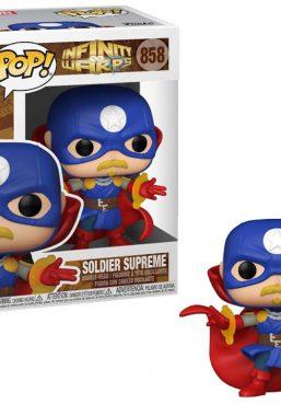 Copertina di Marvel Infinity Warps Soldier Supreme Funko Pop 858