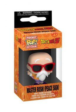 Copertina di Dragon Ball Z Master Roshi (peace sign) Pocket Pop Keychain